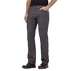 RJR.John Rocha - Big and tall grey herringbone trousers