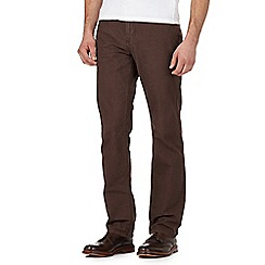 RJR.John Rocha - Big and tall brown herringbone trousers