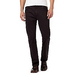 RJR.John Rocha - Big and tall black twisted fit trousers