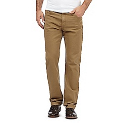 RJR.John Rocha - Big and tall tan twisted bedford trousers