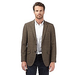 RJR.John Rocha - Big and tall designer brown herringbone tweed blazer