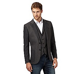 RJR.John Rocha - Designer grey herringbone two tone jacket