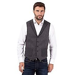 RJR.John Rocha - Big and tall designer grey wool blend waistcoat