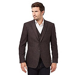 RJR.John Rocha - Big and tall dark red wool blend blazer