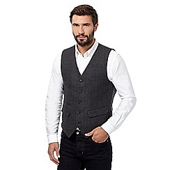 RJR.John Rocha - Big and tall grey check waistcoat