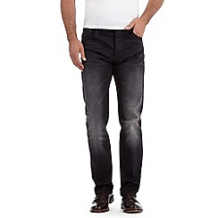 RJR.John Rocha - Big and tall designer black washed regular fit leg jeans