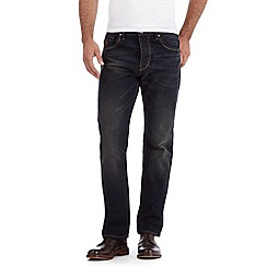 RJR.John Rocha - Big and tall designer dark blue vintage wash straight leg jeans