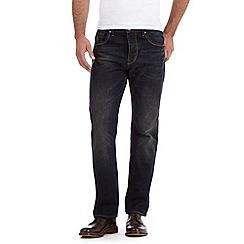 RJR.John Rocha - Designer dark blue vintage wash straight leg jeans