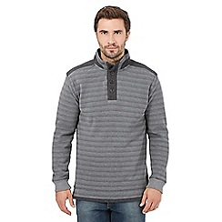 RJR.John Rocha - Dark grey button neck sweater