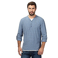 RJR.John Rocha - Big and tall light blue mock 2-in-1 Y neck top