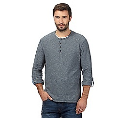 RJR.John Rocha - Big and tall grey mock 2-in-1 grandad top