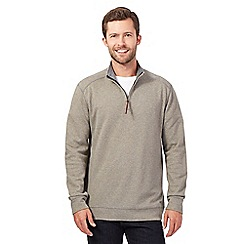 RJR.John Rocha - Big and tall natural zip neck sweatshirt