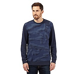 RJR.John Rocha - Big and tall navy brushstroke crew neck jumper