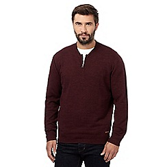 RJR.John Rocha - Big and tall plum zip neck jumper