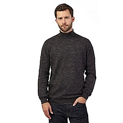 RJR.John Rocha - Big and tall dark grey marl roll neck jumper