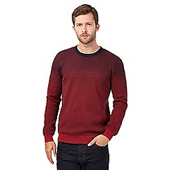 RJR.John Rocha - Red cotton ombre effect jumper
