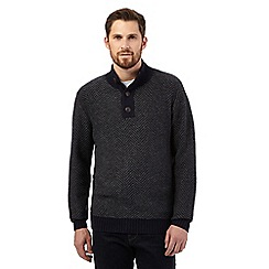 RJR.John Rocha - Big and tall navy funnel neck jumper