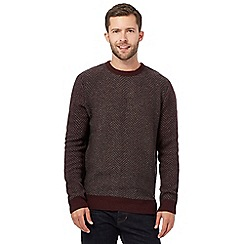 RJR.John Rocha - Big and tall red lambswool blend jumper