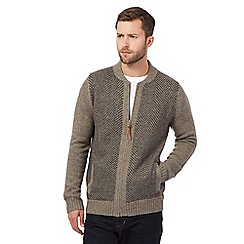 RJR.John Rocha - Big and tall grey lambswool blend sweater