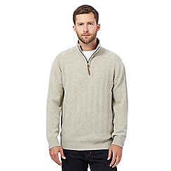 RJR.John Rocha - Light grey lambswool blend jumper