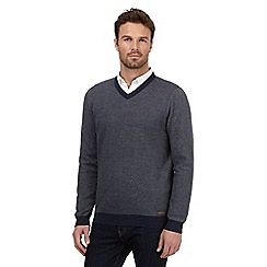 RJR.John Rocha - Big and tall navy birdseye textured jumper