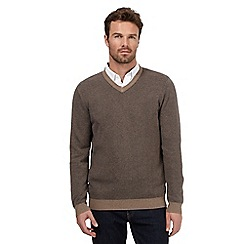 RJR.John Rocha - Brown birdseye textured jumper