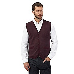 RJR.John Rocha - Dark red sleeveless cardigan