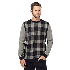 RJR.John Rocha - Big and tall grey check print jumper