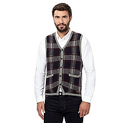 RJR.John Rocha - Big and tall navy check waistcoat