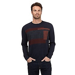 RJR.John Rocha - Big and tall navy assorted square print jumper