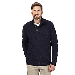 RJR.John Rocha - Big and tall navy cable knit sweater