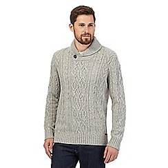 RJR.John Rocha - Big and tall natural shawl neck sweater
