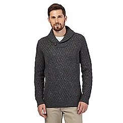RJR.John Rocha - Big and tall dark grey shawl neck sweater