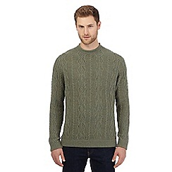 RJR.John Rocha - Big and tall green cable knit jumper