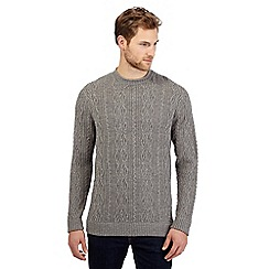 RJR.John Rocha - Big and tall grey cable knit jumper