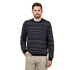 RJR.John Rocha - Big and tall blue fair isle knit sweater