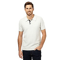 RJR.John Rocha - Big and tall natural textured knitted polo shirt