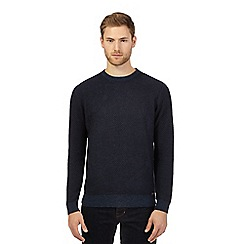 RJR.John Rocha - Big and tall navy wool blend crew neck jumper