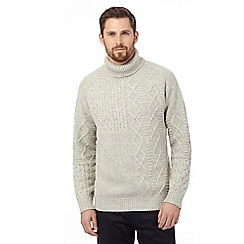 RJR.John Rocha - Off white wool blend cable knit jumper