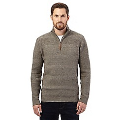 RJR.John Rocha - Big and tall light brown funnel neck jumper