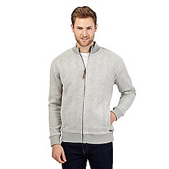 RJR.John Rocha - Big and tall light grey chunky cable knit jacket