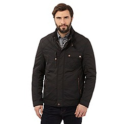 RJR.John Rocha - Big and tall black harrington jacket