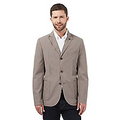 RJR.John Rocha - Big and tall light brown textured jacket