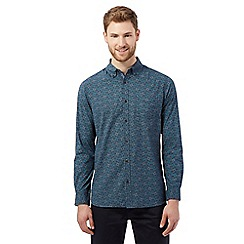 RJR.John Rocha - Big and tall turquoise mosaic print tailored fit shirt