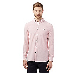 RJR.John Rocha - Big and tall pink textured striped shirt