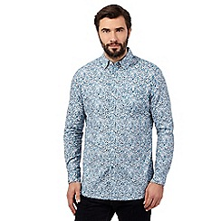 RJR.John Rocha - Big and tall blue floral shirt