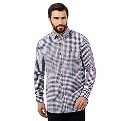 RJR.John Rocha - Big and tall purple gingham checked shirt