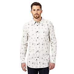 RJR.John Rocha - Big and tall natural botanical shirt