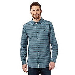RJR.John Rocha - Turquoise textured tailored fit shirt