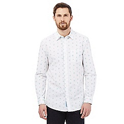 RJR.John Rocha - Big and tall white floral long sleeve shirt